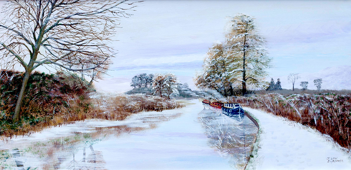winter scene on the kennet and avon